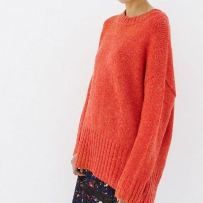 ALIX oranje trui Oversized sweater te koop bij Senses.style
