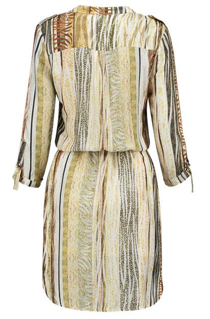 Kleed Sevelyn van het mark Aaiko heeft een safari look met exotische print